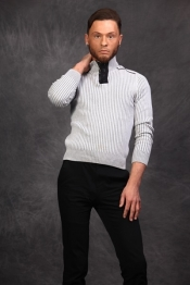Brandon Hill white sweater and black pants 15