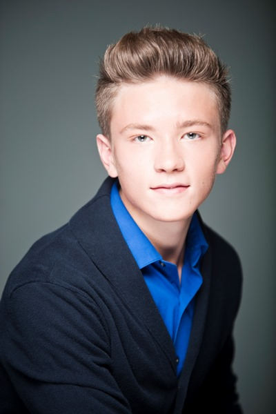 boy teen model headshot in suit